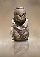 Styalised stone fiqurine. Catalhoyuk Collections. Museum of Anatolian Civilisations, Ankara