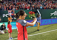 Portland, OR - Wednesday June 28, 2017: Christine Sinclair during a regular season National Women's Soccer League (NWSL) match between the Portland Thorns FC and FC Kansas City at Providence Park.