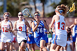 Santa Barbara, CA 02/13/10 - Ashley Antoon-Algieri (UCSB # 36) and Taylor Leffler (Florida # 13) in action during the UCSB-Florida game at the 2010 Santa Barbara Shoutout, UCSB defeated Florida 9-8.