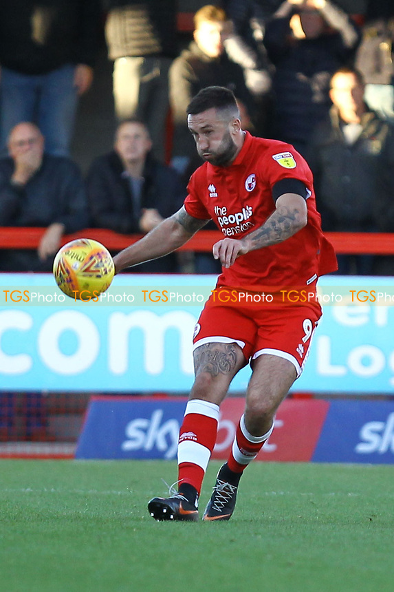 Ollie Palmer of Crawley Town and Joe Walsh of MK Dons during Crawley Town vs MK Dons, Sky Bet EFL League 2 Football at Broadfield Stadium on 3rd November 2018