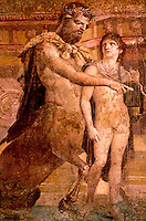 Roman Art:  Chiron and Achilles, Herculaneum Basilica.  National Museum, Naples.  Photo '83.