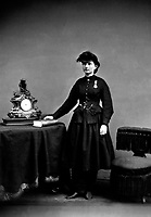 Dr. Mary Walker.  Wearing Medal of Honor.  Ca.  1866.  Mathew Brady Collection.  (Army)<br /> Exact Date Shot Unknown<br /> NARA FILE #:  111-B-2112<br /> WAR &amp; CONFLICT BOOK #:  216