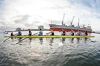 Stanford Crew M Practice, April 11, 2018