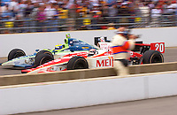 87th Indianapolis 500, Indianapolis Motor Speedway, Speedway, Indiana, USA  25 May,2003.Alex Barron (20) races Tony Renna for postion late in the race..World Copyright©F.Peirce Williams 2003 .ref: Digital Image Only..F. Peirce Williams .photography.P.O.Box 455 Eaton, OH 45320.p: 317.358.7326  e: fpwp@mac.com..