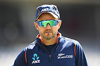 NZ Coach Mike Hesson.<br /> New Zealand Blackcaps v England. 1st day/night test match. Eden Park, Auckland, New Zealand. Day 4, Sunday 25 March 2018. &copy; Copyright Photo: Andrew Cornaga / www.Photosport.nz
