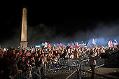 Paris, France.May 6, 2007..Supporters rally at Place de la Concorde. Voters turned out in record numbers to elect Sarkozy as their next President ahead of Socialist candidate Segolene Royal....