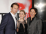 HOLLYWOOD, CA - MAY 30: Alexander Skarsgard, Anna Paquin and Stephen Moyer arrive at HBO's 'True Blood' Season 5 Los Angeles premiere at ArcLight Cinemas Cinerama Dome on May 30, 2012 in Hollywood, California.