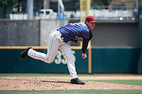 Frisco RoughRiders pitcher Peter Fairbanks (28) during a Texas League game against the Midland RockHounds on May 21, 2019 at Dr Pepper Ballpark in Frisco, Texas.  (Mike Augustin/Four Seam Images)