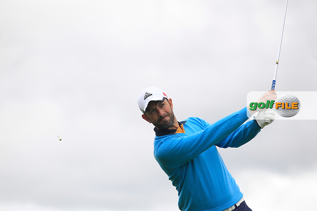 Dave O'Donovan (Muskerry) on the 11th tee during Round 3 of the Irish Mid-Amateur Open Championship at New Forest on Sunday 21st June 2015.<br /> Picture:  Thos Caffrey / www.golffile.ie
