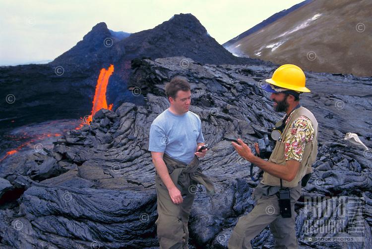 Scientists study fresh lava flow, Big Island