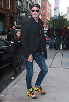 NEW YORK, NY - NOVEMBER 8: Chad Smith  wearing Jeremy Scott Wings by Adidas at AOL's Build Series promoting the Landmark Live Concert on PBS docu-series featuring the Red Hot Chili Peppers in New York City on November 8, 2017. <br /> CAP/MPI/RW<br /> &copy;RW/MPI/Capital Pictures
