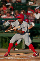 May 8 2010: Anthony Gose (24) of the Clearwater Threshers during a game vs. the Daytona Cubs at Jackie Robinson Ballpark in Daytona Beach, Florida. Clearwater, the Florida State League High-A affiliate of the Philadelphia Phillies, lost the game against Daytona, affiliate of the Chicago Cubs, by the score of 4-1.  Photo By Scott Jontes/Four Seam Images