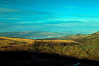 The Firth of Clyde and Cowal Peninsula from the Shielhill Glen Nature Trail, Kelly Cut, Inverclyde