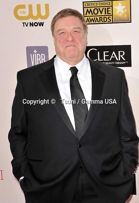John Goodman  at the 18th Ann. Critics Choice Awards 2013 at the Barker Hangar in Santa Monica.
