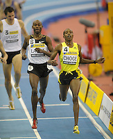 Photo: Ady Kerry/Richard Lane Photography..Aviva Grand Prix. 21/02/2009. .Augustine Choge wins the 1500m
