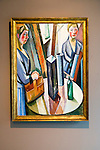 """""""The Mirror"""" 1917 by William Scharff (1886-1959), oil on canvas, Kode 4 art gallery Bergen, Norway - check copyright status for intended use"""