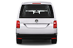 Straight rear view of 2015 Volkswagen Caddy Maxi Dark & Cool 5 Door Mini Mpv Rear View  stock images