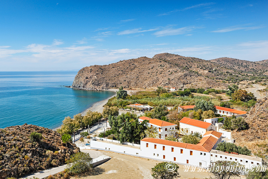 The monastery Agia Markella in Chios island, Greece