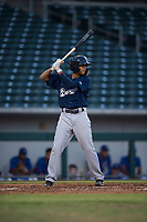 AZL Brewers shortstop Luis Avila (39) at bat during an Arizona League game against the AZL Cubs 1 at Sloan Park on June 29, 2018 in Mesa, Arizona. The AZL Cubs 1 defeated the AZL Brewers 7-1. (Zachary Lucy/Four Seam Images)