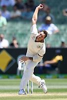 29th December 2019; Melbourne Cricket Ground, Melbourne, Victoria, Australia; International Test Cricket, Australia versus New Zealand, Test 2, Day 4; James Pattinson of Australia bowls - Editorial Use