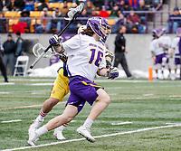 University at Albany Men's Lacrosse defeats Drexel 18-5 on Feb. 24 at Casey Stadium.  Zach Wolfe (#16). (Photo by Bruce Dudek / Cal Sport Media/Eclipse Sportswire)