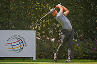 Xander Schauffele (USA) watches his tee shot on 12 during round 2 of the World Golf Championships, Mexico, Club De Golf Chapultepec, Mexico City, Mexico. 3/2/2018.<br /> Picture: Golffile | Ken Murray<br /> <br /> <br /> All photo usage must carry mandatory copyright credit (&copy; Golffile | Ken Murray)
