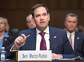 "United States Senator Marco Rubio (Republican of Florida)  testifies before the US Senate Committee on the Judiciary during ""an oversight hearing to examine the Parkland shooting and legislative proposals to improve school safety"" on Capitol Hill in Washington, DC on Wednesday, March 14, 2018.<br /> Credit: Ron Sachs / CNP"