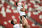 Fiji vs South Africa during the Day 2 of the HSBC Singapore Rugby Sevens as part of the World Rugby HSBC World Rugby Sevens Series 2016-17 at the National Stadium on 16 April 2017 in Singapore. Photo by Victor Fraile / Power Sport Images