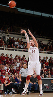 STANFORD, CA - DECEMBER 28: Kayla Pedersen of Stanford women's basketball puts up a shot in a game against Xavier on December 28, 2010 at Maples Pavilion in Stanford, California.  Stanford topped Xavier, 89-52.