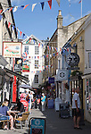 People shopping in Northumberland Passage, Bath, Somerset, England