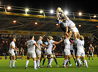 Twickenham, England. during the Aviva Premiership match between Harlequins and Saracens at Twickenham Stoop on September 12, 2014 in London, England.