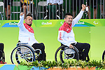 (L-R) Shin Nakazato, Tomoaki Imai (JPN), <br /> SEPTEMBER 18, 2016 - WheelChair Rugby : <br /> Medal Ceremony <br /> at Carioca Arena 1<br /> during the Rio 2016 Paralympic Games in Rio de Janeiro, Brazil.<br /> (Photo by AFLO SPORT)