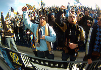 Fans of the Philadelphia Union during an MLS match against the Vancouver Whitecaps at PPL Park in Chester, PA. on March 26 2011.Union won 1-0.