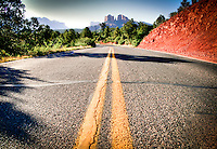 Winding road in Sedona, Arizona