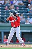 Designated hitter Deivi Grullon (11) of the Lakewood BlueClaws bats in a game against the Greenville Drive on Sunday, June 26, 2016, at Fluor Field at the West End in Greenville, South Carolina. Greenville won, 2-1. (Tom Priddy/Four Seam Images)
