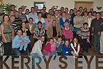 RETIREMENT PARTY: John Lynch, Connolly Park (seated 3rd right), celebrating his retirement from the post office with family and friends at Kerins O'Rahillys GAA clubhouse on Friday night.   Copyright Kerry's Eye 2008