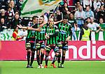 Stockholm 2014-06-18 Fotboll Superettan Hammarby IF - GAIS :  <br /> GAIS Shkelqim Krasniqi har gjort 1-0 och jublar med lagkamrater<br /> (Foto: Kenta J&ouml;nsson) Nyckelord:  Superettan Tele2 Arena Hammarby HIF Bajen GAIS jubel gl&auml;dje lycka glad happy