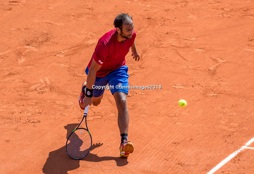 Paris, France, 27 May, 2018, Tennis, French Open, Roland Garros, Victor Troicki (SRB)<br /> Photo: Henk Koster/tennisimages.com