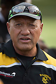 Te Kauwhata coach Pat Flavell. Counties Manukau Premier Club rugby game between Te Kauwhata and Onewhero, played at Te Kauwhata on Saturday April 16th 2016. Onewhero won the game 37 - 0 after leading 13 - 0 at Halftime. Photo by Richard Spranger.