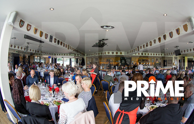 Hospitality ahead of the Pre Season Friendly match between London Scottish Football Club and Cardiff Blues at Richmond Athletic Ground, Richmond, United Kingdom on 19 August 2017. Photo by Andy Rowland.