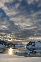 View from the top of Danco Island, Antarctic Peninsula.