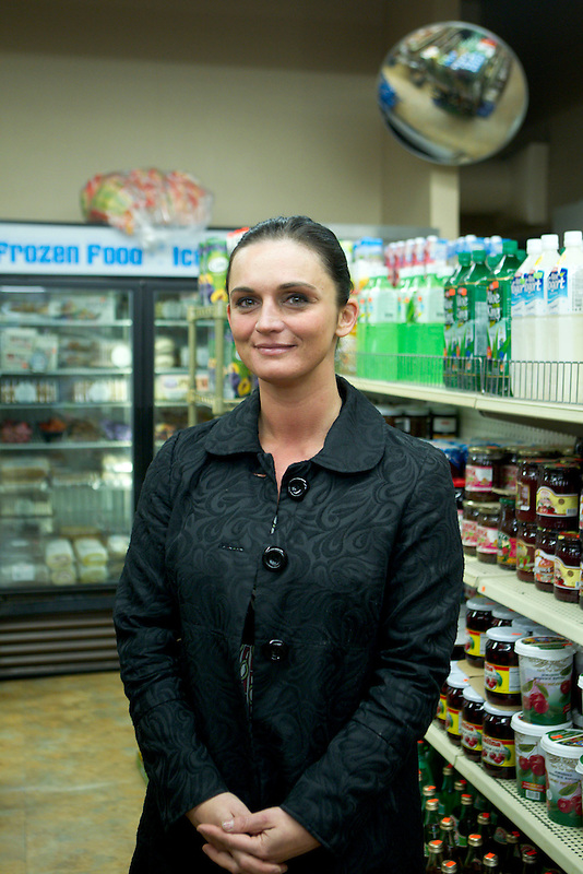 Galina Burley, at Anoush Deli in Vancouver, Monday January 28, 2014. Burley, who's a local leader of the Russian speaking community, grew up in Sochi.(Natalie Behring/for the Columbian)