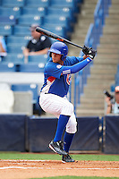 Alex Kirilloff (11) of Plum High School in New Kensington, Pennsylvania playing for the Chicago Cubs scout team during the East Coast Pro Showcase on July 28, 2015 at George M. Steinbrenner Field in Tampa, Florida.  (Mike Janes/Four Seam Images)