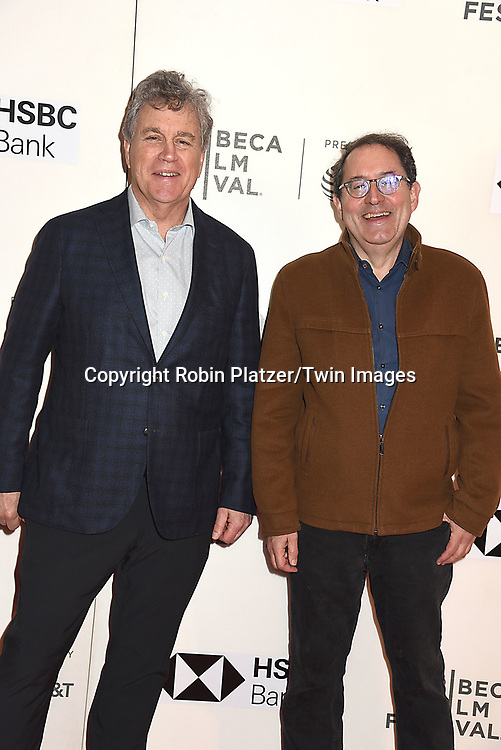 "Tom Benard and Michael Barker of Sony Classics Pictures attend ""The Seagull"" Screening at the Tribecca Film Festival at BMCC on April 21, 2018 in New York City, New York, USA.<br /> <br /> photo by Robin Platzer/Twin Images<br />  <br /> phone number 212-935-0770"