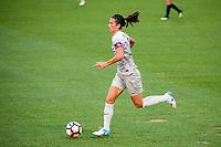Kansas City, MO - Thursday August 10, 2017: Abby Erceg during a regular season National Women's Soccer League (NWSL) match between FC Kansas City and the North Carolina Courage at Children's Mercy Victory Field.