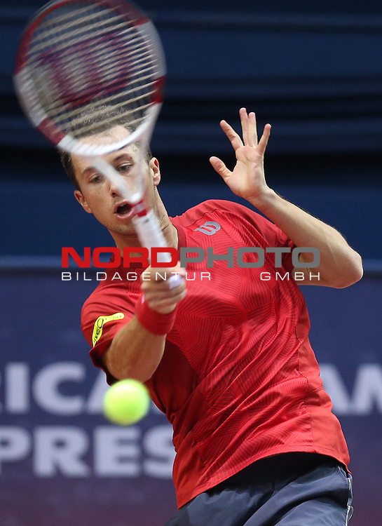 06.02.2014., Zagreb, Croatia -  9. ATP World Tour, PBZ Zagreb Indoors, 2nd round, Philipp Kohlschreiber (GER) - Andrey Golubev (KAZ). <br /> <br /> Foto &not;&copy;  nph / PIXSELL / Jurica Galoic