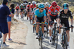 Mikel Nieve (ESP) leads race leader Chris Froome (GBR) Team Sky and Miguel Angel Lopez Moreno (COL) Astana up the final climb during Stage 14 of the 2017 La Vuelta, running 175km from &Eacute;cija to Sierra de La Pandera, Spain. 2nd September 2017.<br /> Picture: Unipublic/&copy;photogomezsport | Cyclefile<br /> <br /> <br /> All photos usage must carry mandatory copyright credit (&copy; Cyclefile | Unipublic/&copy;photogomezsport)