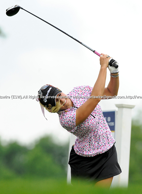 12 JUN 09:  Natalie Gulbis hits a tee shot at the McDonald's LPGA Championship in Havre De Grace, Maryland