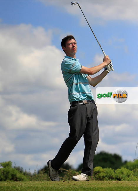 Mark Kerrigan (Old Conna) on the 9th tee during Round 2 of the Leinster Youths Amateur Open Championship at Esker Hills on Tuesday 17th June 2014.<br /> Picture:  Thos Caffrey / www.golffile.ie