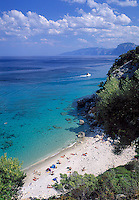 Italy, Sardinia, Cala Fuili (Beach) near Cala Gonone at Golfo di Orosei